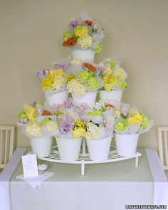 wedding favors, market displays, flowermarket, flower favor, shower, fresh flowers, flower displays, flower market, wedding display
