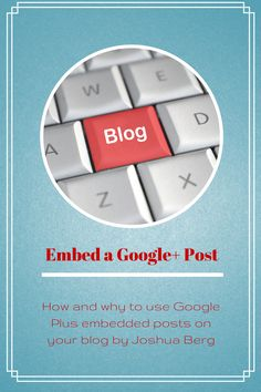 How and why you should embed Google Plus posts on your blog http://www.realsmo.com/2013/09/how-to-use-google-plus-embedded-posts.html