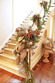 christma joy, atlanta holiday, beauti garland, stair garland, christma decor, stairgarlandjpg 512768, beauti stair, garlands, holiday 10
