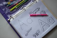 Playing House: Alphabet Busy Book with link to free printables