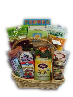 Low sodium get well basket for heart surgery recovery.