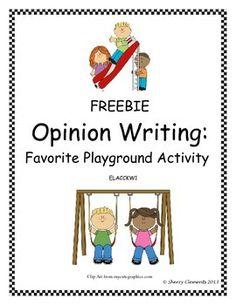 FREEBIE: Opinion Writing: Favorite Playground Activity
