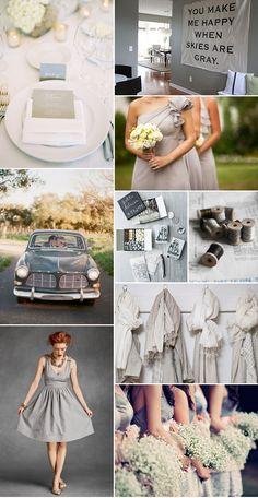 dream wedding = gray gray gray and more gray. <3