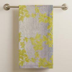 Botanical Ombre Jacquard Bath Towel | World Market