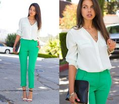 colored pants, fashion, cloth, style, outfit, kelly green, closet, shoe, green pants