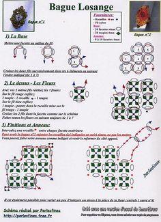 LOSANGE free pattern, bead spider, spider ring