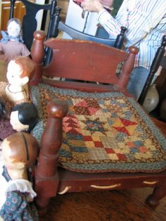 doll quilt made with civil war repro...love the bed!