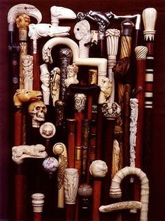antique walking canes, so many designs!