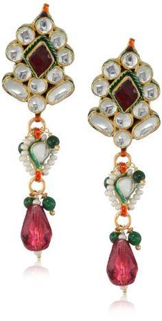 "Taara ""Peacock Collection"" Victorian Kundan Earrings"