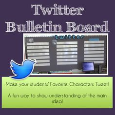 """Want to engage your students?  Try making a Twitter Bulletin Board. This product includes a template, detailed plans, and printable sheets for students to use!  Save your precious time while staying """"hip"""" to the technology that our students use daily!"""