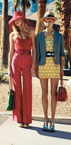 Love the outfit on the left! Very spring and summer!