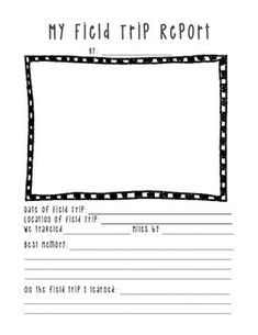 Field Trip Report Forms - make a fun class book or a bulletin board after students return from a field trip. A great way to save memories!