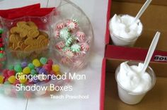 Gingerbread house shadow box