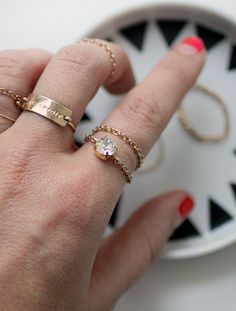 I SPY DIY | Delicate Chain Rings