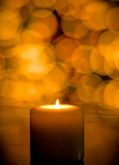 Yellow & brown candle light