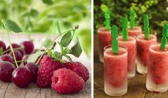 Frozen Berry Cherry Pops Made in a Blendtec or Vitmaix by @BlenderBabes
