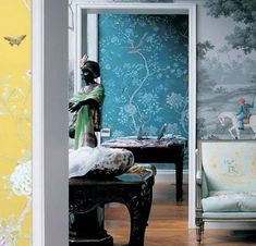 A different color/scene in every room? Why yes, please.