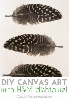 DIY Dishtowel Canvas Art