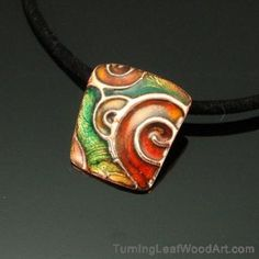 Copper Pendant with Enamel Necklace:  $295