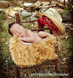 Texas Baby Photoshoot Portrait Ideas - Baby on Sheepskin - Yeehaw! Multiple Colors and Sizes Available at Elegant Furs