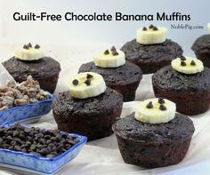 3. A Low Calorie Treat: Guilt-Free Chocolate Banana Muffins. (I love me some banana muffins.)  #readypac  #fit&fresh #lowcalorietreat