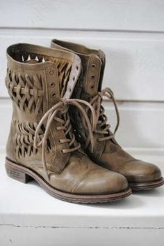 Adorable Brown Combat Boots