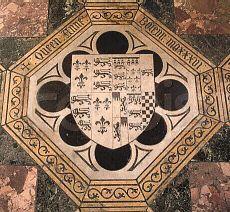 Anne Boleyn's grave marker.  Chapel of St. Peter-ad-Vincular, Tower of London.