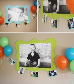 Monster Party Final Results! Giant wall hanging + photo garland.