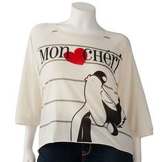 "I want this shirt! Pepe Le Pew ""Mon Cheri"""