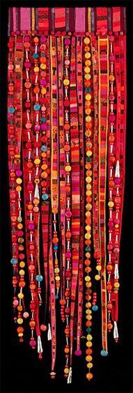 banner idea handmade curtain, design homes, bead curtain, color, beaded curtains, living room designs, bohemian style, mariann burr, style at home