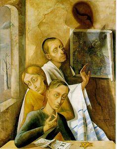 1944, felixnussbaumjpg 575, self portraits, holocaust art, expressionist paint, felix nussbaum, dig, artist, imag