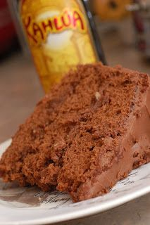 Sugar & Spice by Celeste: Chocolate Kahlua Cake With Chocolate Kahlua Cream Cheese Frosting. ~T~ love this cake