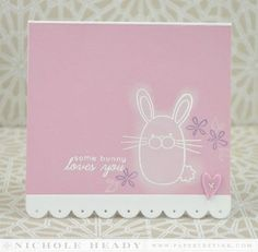 Bunny Love Card by Nichole Heady for Papertrey Ink (February 2014)
