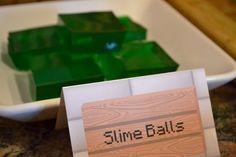 minecraft birthday, balls, girl birthday, food, girls birthday parties, video games, slime ball, minecraft parti, birthday cakes