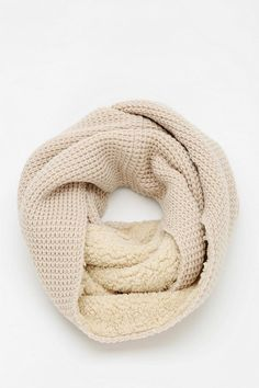 Sherpa lined, way cozy scarf from Bickley + Mitchell.