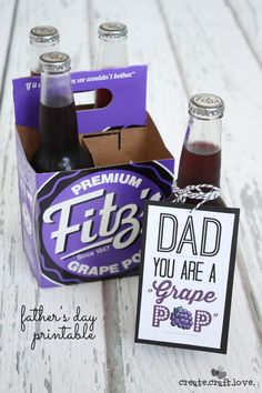 "Grab some soda and let Dad know what a ""grape pop"" he is with my FREE printable!  via createcraftlove.com"