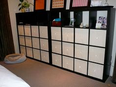 Made fronts for Ikea bins to go in Expedit