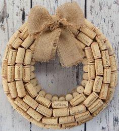 vintag cork, cork wreath, kind wreath