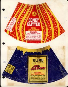 fireworks packaging, 1984