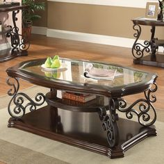 Ornate Metal Scrollwork Coffee Table – Katy Furniture