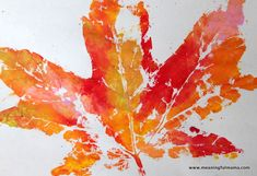 Leaf Prints - Great craft for the Autumn