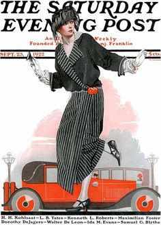 """Magazine Cover, """"The Saturday Evening Post"""": 23 September 1922, Coles Phillips."""