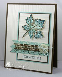 Rita's Creations: Hopeful Leaf  Stampin' Up!