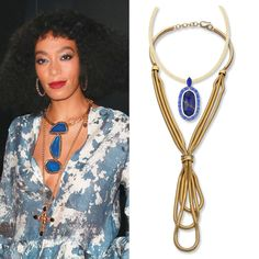 Celebrity-Inspired Ways to Layer Necklaces: There's no one quite like Solange Knowles when it comes to fierce fashion. She unapologetically doubled up on two chunky pieces: a three-stone collar and an ornate cross. If that's too busy for your taste, scale back with one stone and gold-plated snake chains. Shop the necklaces, from top: Kendra Scott, $275; kendrascott.com Paige Novick, $345; shopbop.com - #InStyle