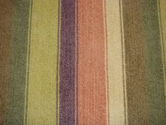This is a wool remnant with multi colored stripes.