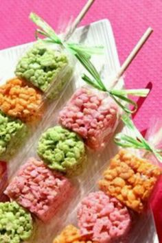 Easter party Rice Krispies on a Stick