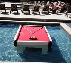 Billiards in the pool!