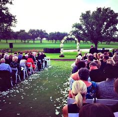 Rachel + Rob Fairytale Wedding Ceremony on the Event Lawn at @fsdallas | @bellabrides  | @FSBridal