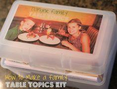 Make a Family Table Topics - Family Dinner Kit #DIY