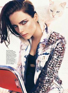 Spring 2013: Jean Pool #denim #trend #distressed #stud #jacket #inspiration